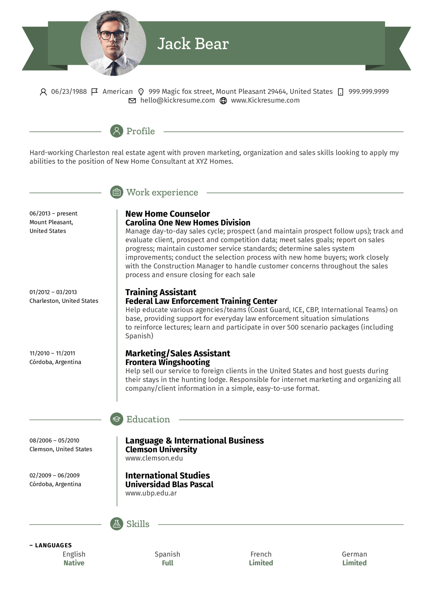 Resume Examples By Real People Assistant Real Estate