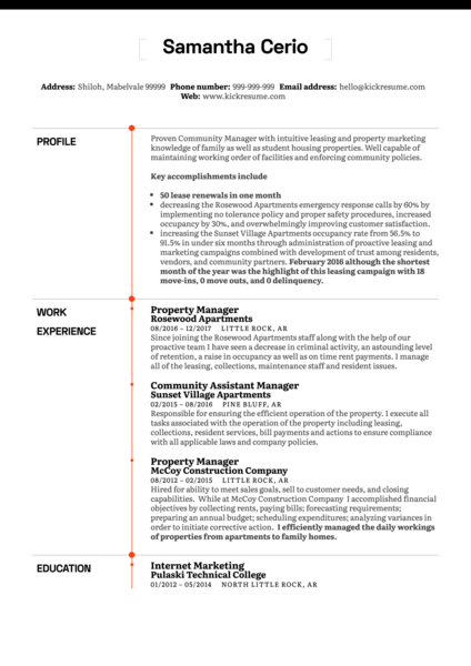 Business Resume Samples Kickresume