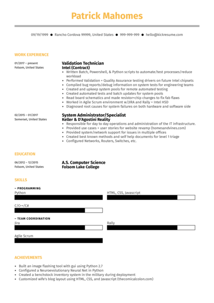 google amazon facebook front end developer resume example