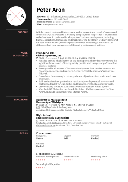 Startup Resume Samples from Real Professionals Who got Hired  Kickresume