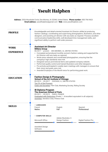 gaffer resume example