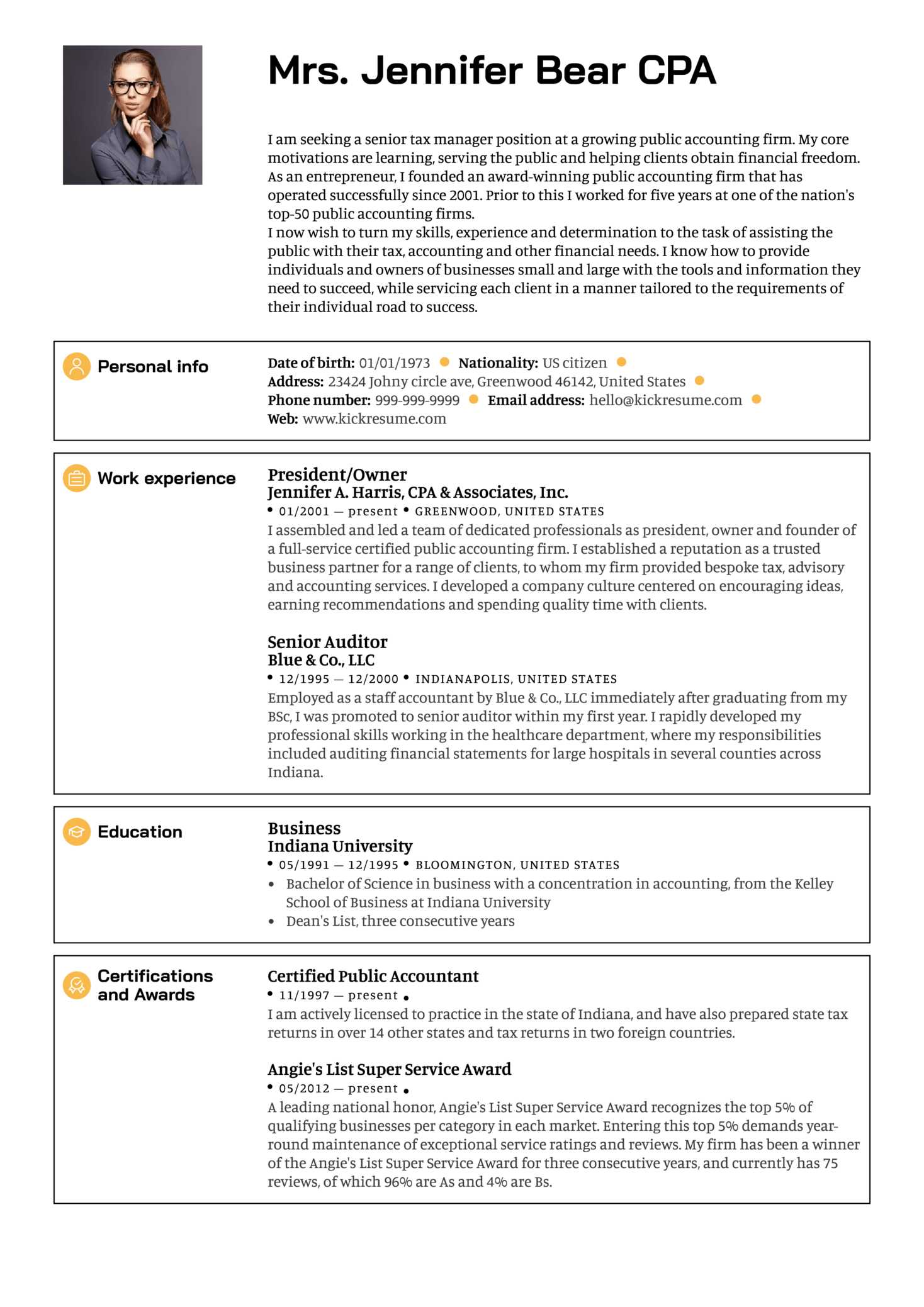 Senior Manager Resume Sample Resume Sample Career Help Center