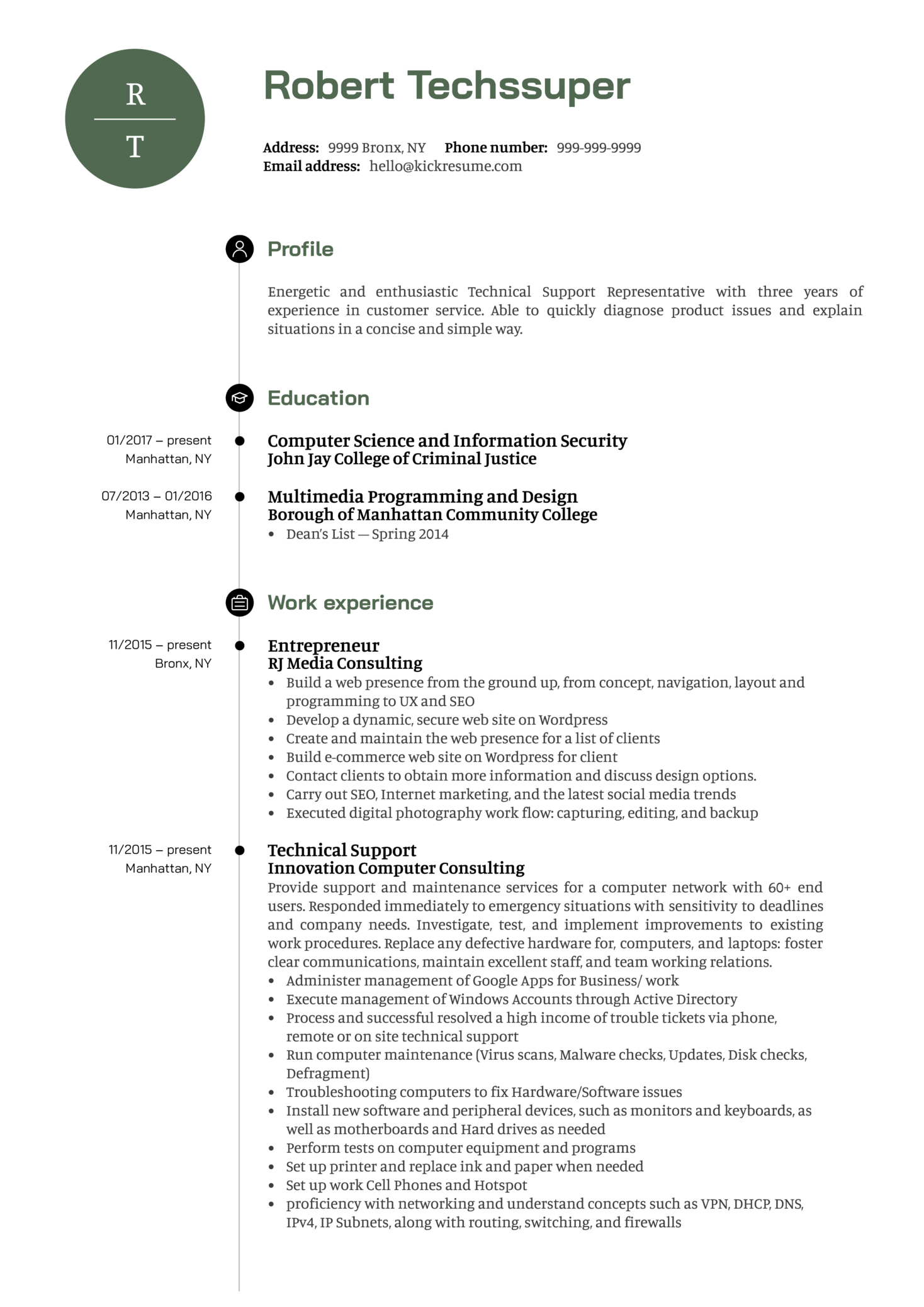 Technical Resume Tips Resume Examples By Real People Technical Support Representative