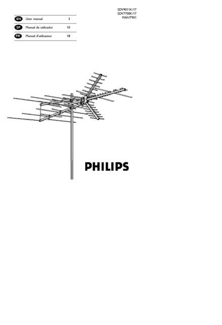 Amplified Omnidirectional VHF/UHF TV Antenna PRE