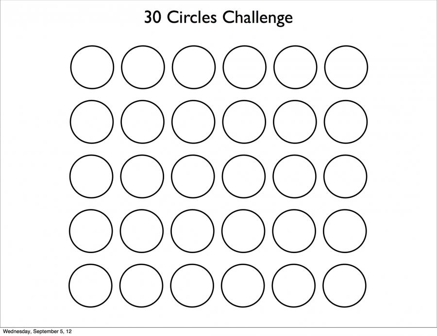 30 circles challenge