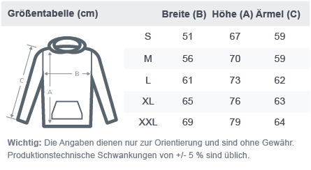 size chart basic hoodie 2020 Same des Lebens - Hoodie