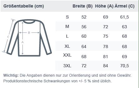 size chart basic sweatshirt 2020 Same des Lebens -Sweater