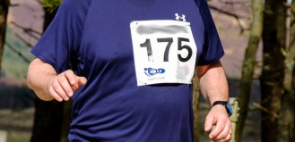 Running vest with number