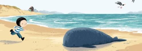 whale on beach