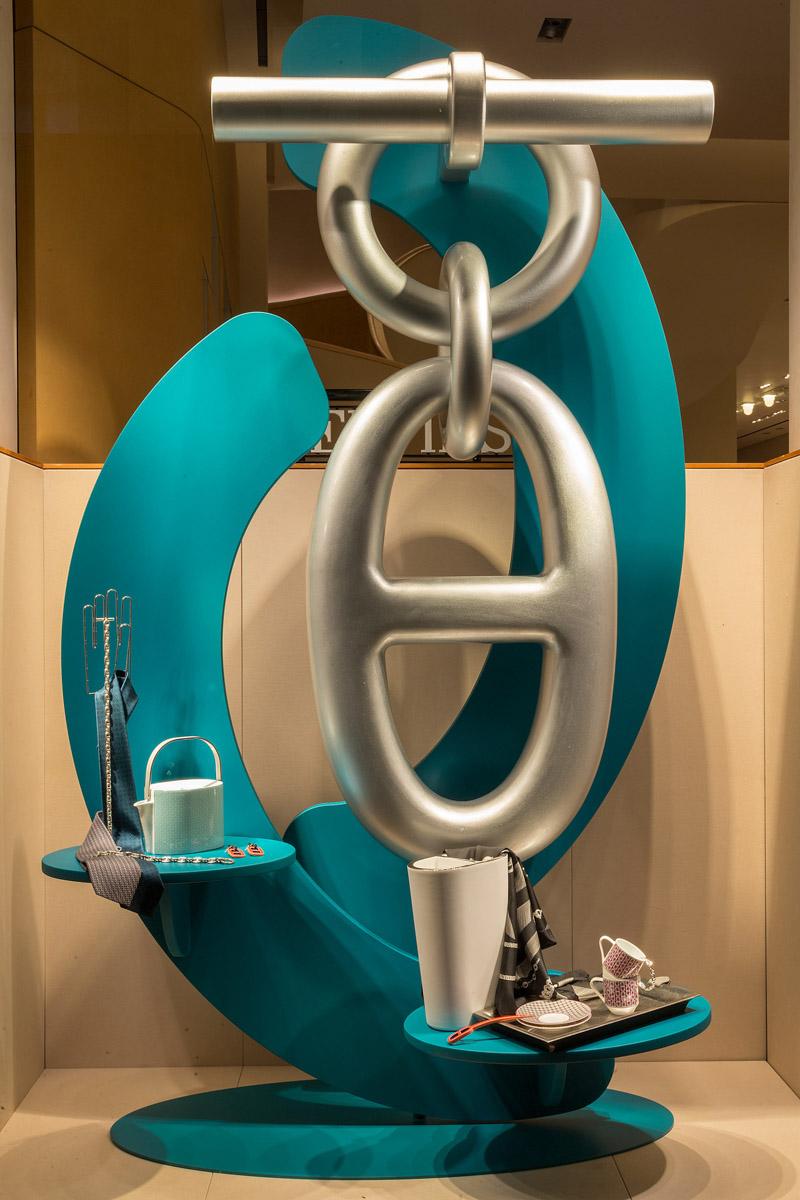 Architettura Hermès vetrine - Photo: © Andrea Pisapia / Spazio Orti 14