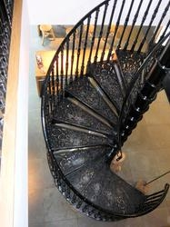 Cast Iron Spiral Staircases By Albion Design Of Cambridge   Cast Iron Spiral Staircase   Modern   Traditional   Stair Case   Kitchen   Railing