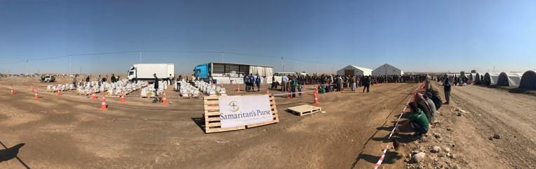 Samaritan's Purse distributing aid in Mosul