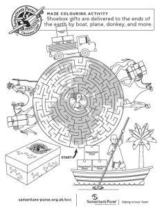 Children's printable Maze sheet