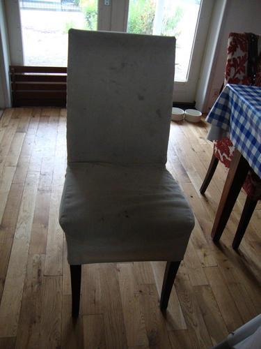 4 eetkamer stoelen opnieuw bekleden  Werkspot