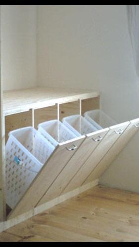 Lage kast max 1 meter met inbouw voor wasmanden  Werkspot