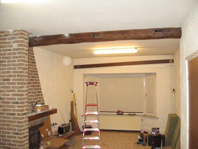 Houten draagbalken vervangen door stalen balken  Werkspot