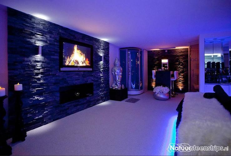 Laag Plafond met spotlichten en ledlichten huis gestuked