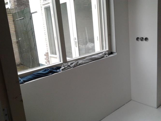 vensterbank erker en werkblad keuken in jaren 30 stijl