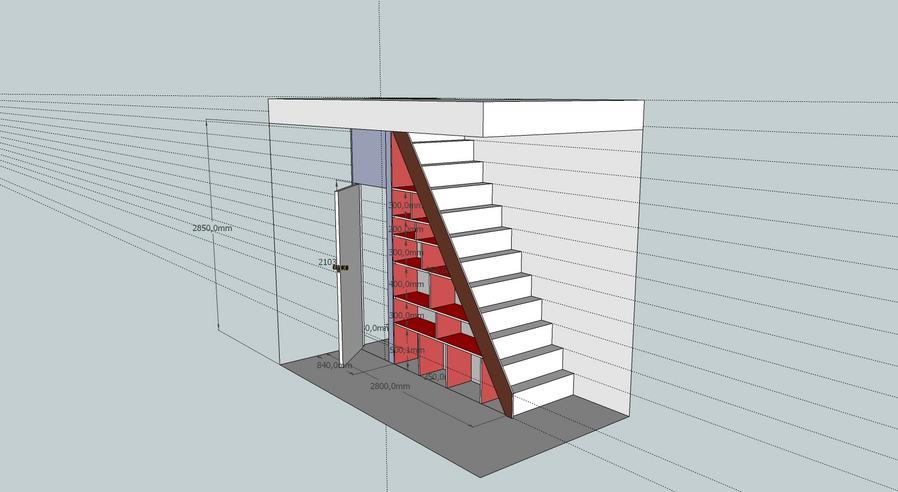 vaste kast onder trap maken  Werkspot