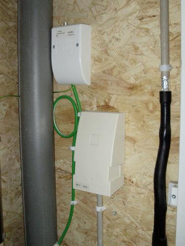 Doortrekken van Tv en Internet Kabel van meterkast naar