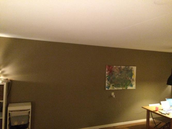 Woonkamer verven of stucen met kleur ong 35 m2  Werkspot