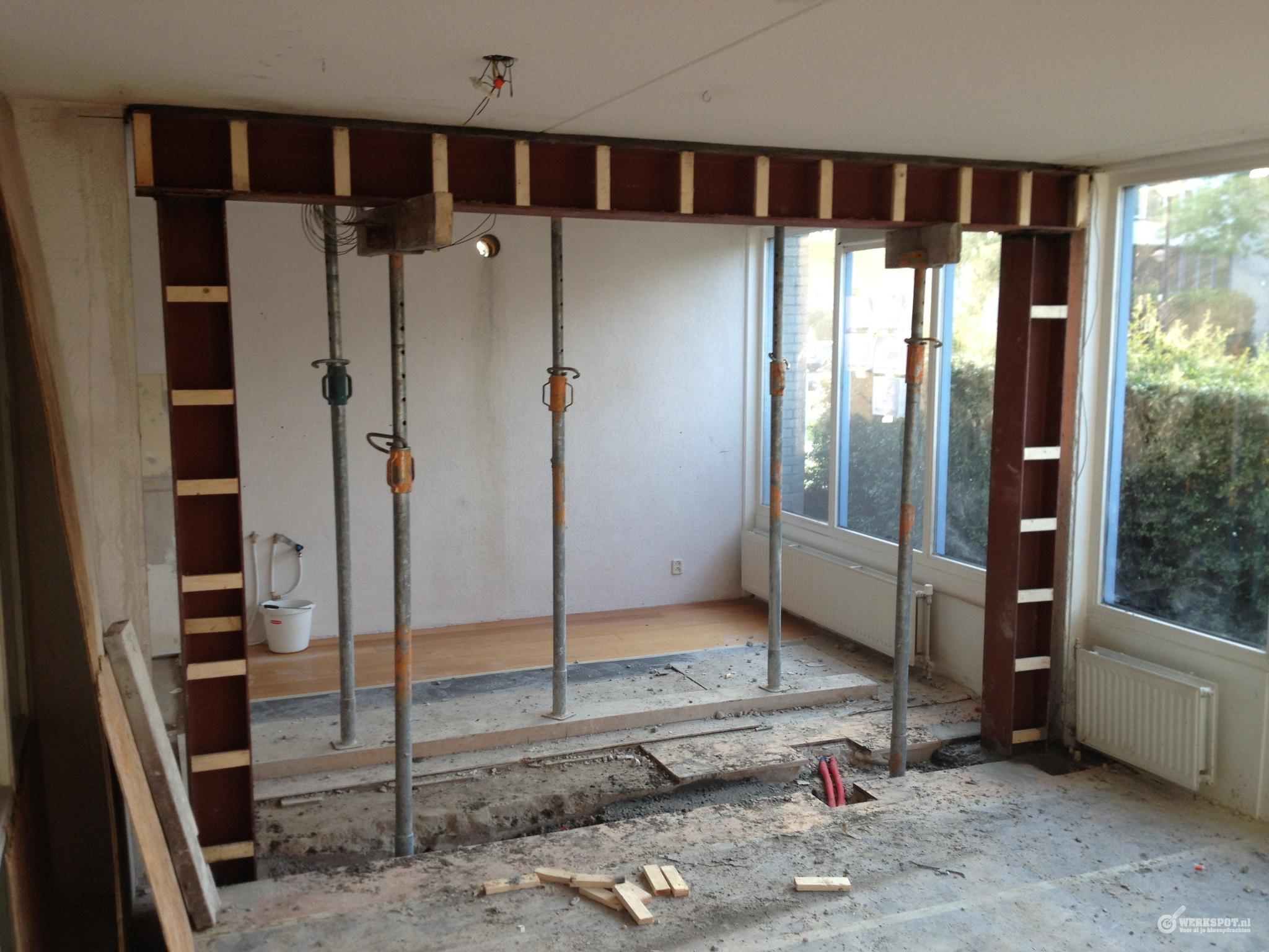 Draagmuur verwijderen tbv nieuwe keuken  Werkspot