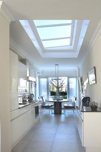 Opmetselen muurplafond keuken  lichtstraat aanbrengen