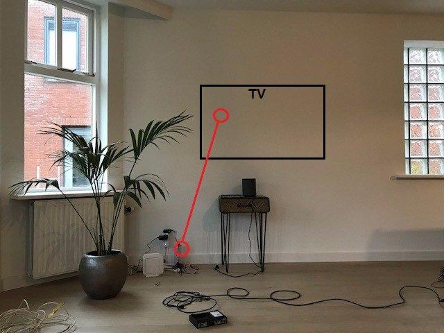 TV ophangen op muur en kabels achter voorzetwand wegwerken