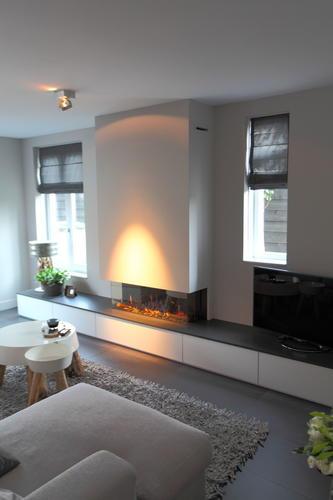 Installeren gashaard 110 cm maken meubel incl tv nis