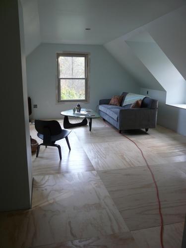Underlayment vloer leggen bovenverdieping  2 inbouwkasten