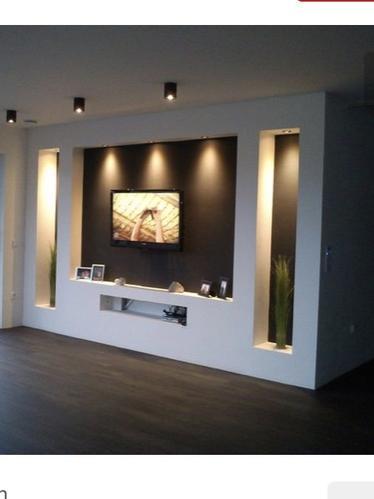 Plafond Verlagen met plaatsen inbouwspots en led strip en