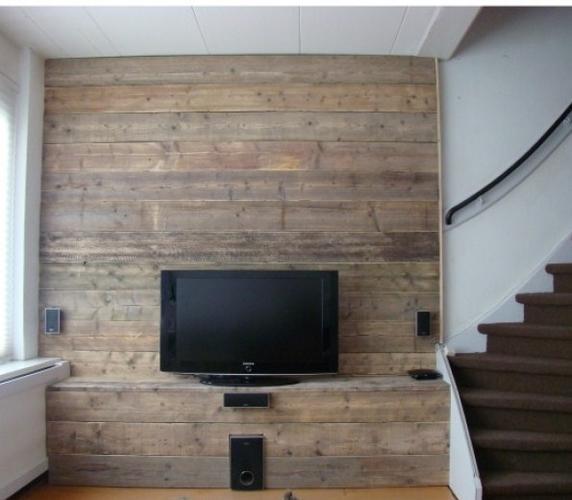 Muur en vensterbank bekleden met steigerhout  Werkspot