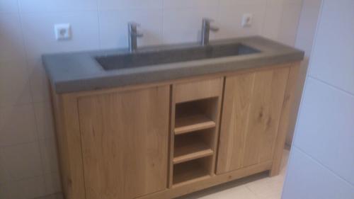 eiken houten badmeubel  Werkspot
