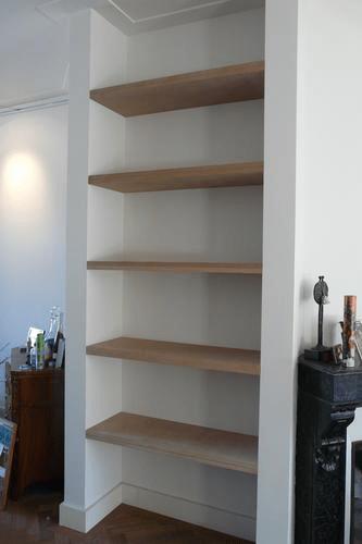 blinde boeken planken in nis  Werkspot