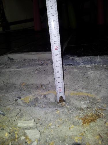 55m2 oude vloer eruit opvullen vloerverwarming  nieuwe