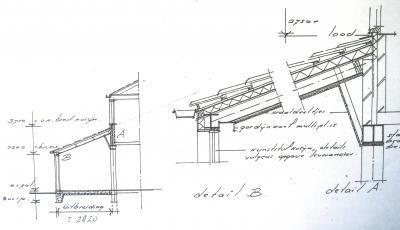 uitbouw woonkamer 3 bij 6 meter hellend dak met dakramen