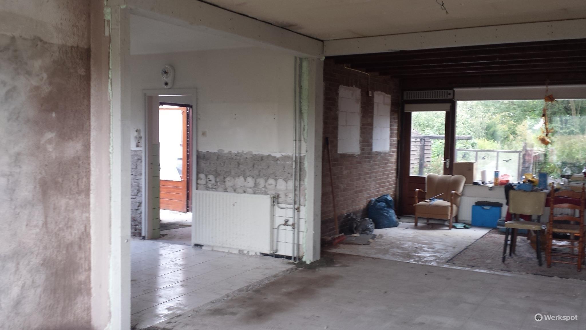 draagmuur verwijderen en balken plaatsen  Werkspot