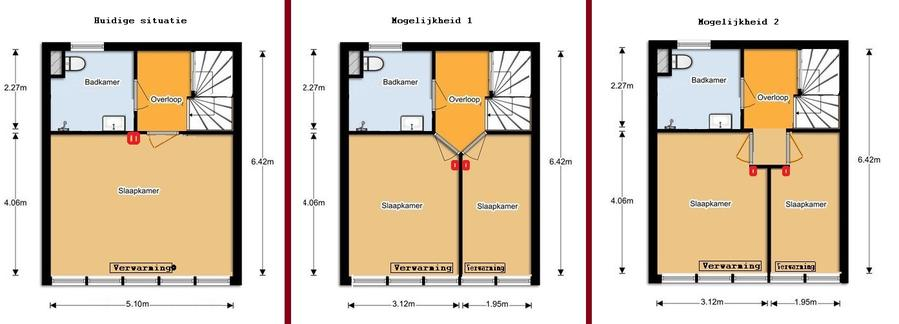 Grote slaapkamer splitsen in 2 kleine kamers  Werkspot