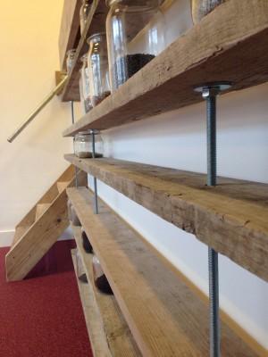 Boekenplanken op maat 8 planken van 154cm breed x 27cm