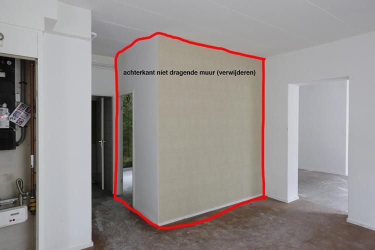 Dragende muur verwijderen balken plaatsen keukenblok