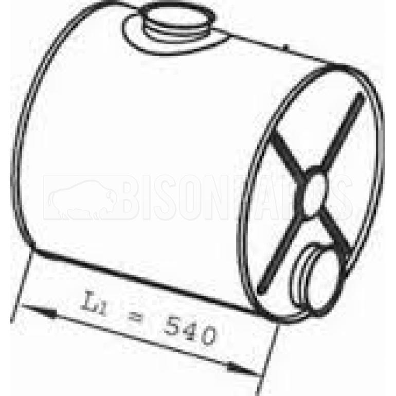 DAF CF75 & CF85 EXHAUST SILENCER BOX BP103-021, BP103021