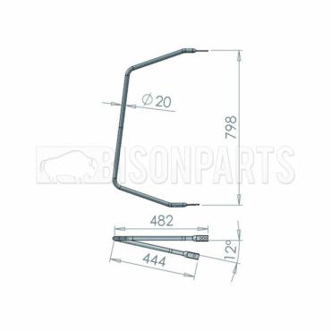 +FITS IVECO EUROCARGO MIRROR ARM UPTO 2006 798 X 482 MM