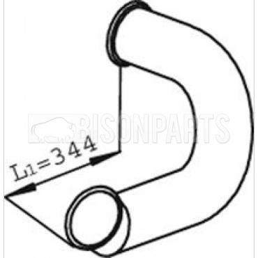 DAF CF85 (2001-2013) EXHAUST DOWN PIPE 22112, 1608840