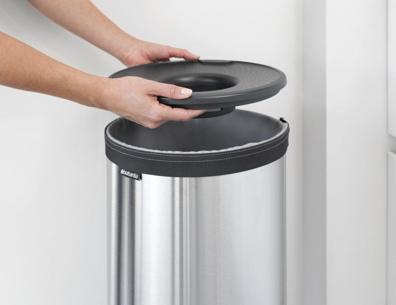 Brabantia Wasbox 50 Liter Matt Steel.Karwei Verlichting Binnen