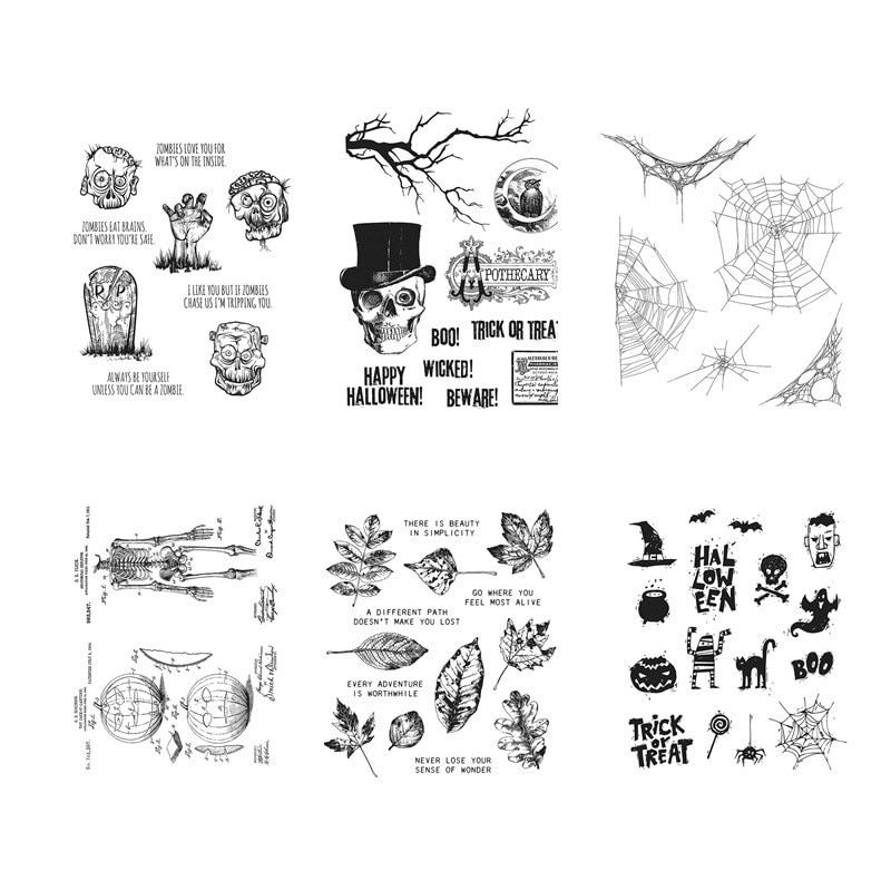 DIY Scrapbook Cutting Stamps Clear Halloween Rubber Stamp