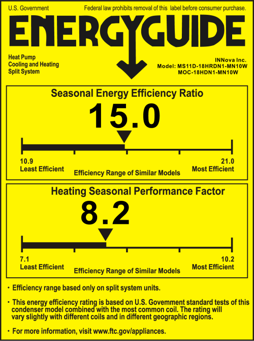 small resolution of if you see 2 numbers one for a seasonal energy efficiency ratio and one for a heating seasonal performance factor then you have a heat pump