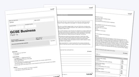 AQA GCSE Business (9-1) Practice Exam Papers (Vol1