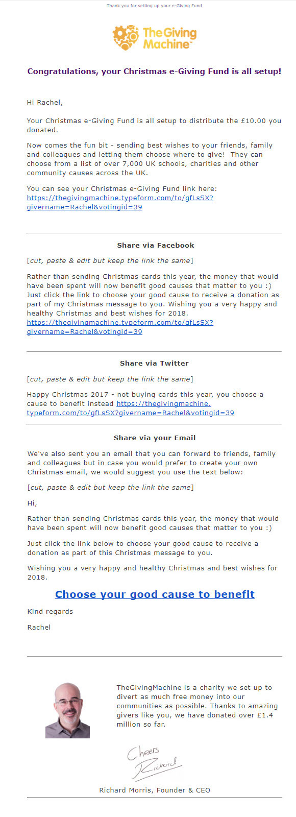 Confirmation Email Template