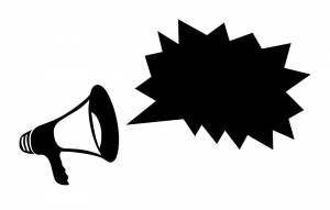 A megaphone symbolising a Twitter Ads campaign call to action