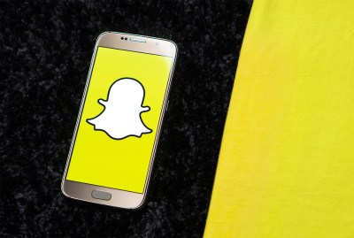 Social networking site Snapchat on a mobile